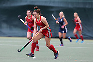 Sophie Clayton of Wales in action. Belarus v Wales, EuroHockey 11 Women's championshp 2017 in Cardiff, South Wales , Wednesday 9th August 2017<br /> pic by Andrew Orchard