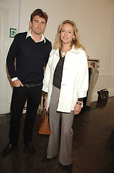NATHAM ROBERTS and LADY ALEXANDRA SPENCER-CHURCHILL at a lunch in aid of African Solutions To African Problems held at Il Bottaccio, 9 Grosvenor Place, London on 20th May 2008.<br /><br />NON EXCLUSIVE - WORLD RIGHTS