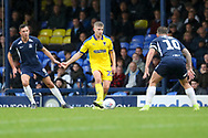 AFC Wimbledon midfielder Max Sanders (23) passing the ball during the EFL Sky Bet League 1 match between Southend United and AFC Wimbledon at Roots Hall, Southend, England on 12 October 2019.