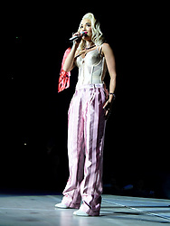Rita Ora on stage during day one of Capital's Jingle Bell Ball with Coca-Cola at London's O2 Arena.