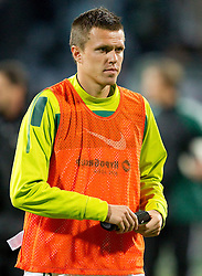 Josip Ilicic of Slovenia after the football match between National Teams of Slovenia and Serbia of UEFA Euro 2012 Qualifying Round in Group C on October 11, 2011, in Stadium Ljudski vrt, Maribor, Slovenia.  Slovenia defeated Serbia 1-0. (Photo by Vid Ponikvar / Sportida)