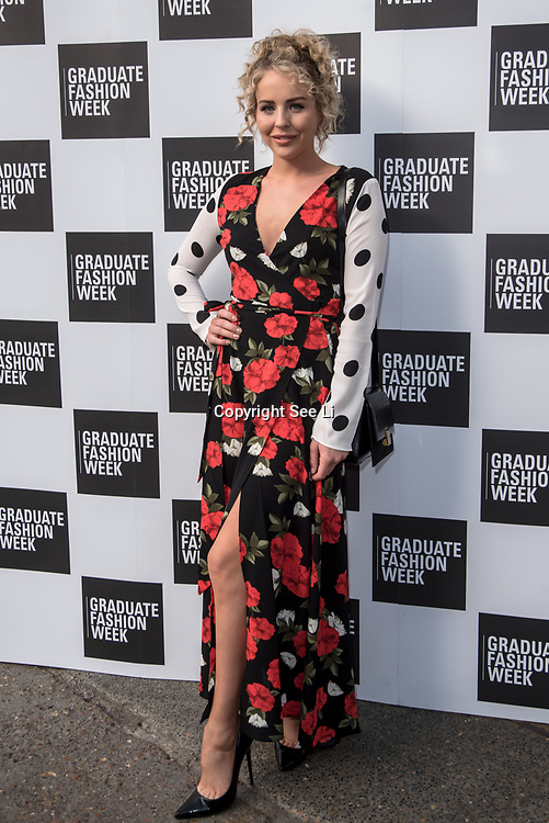 Lydia Bright arriver at the Graduate Fashion Week 2018, June 6 2018 at Truman Brewery, London, UK.