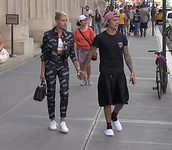 Hailey Baldwin and Justin Bieber are seen out and about in New York City