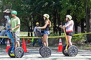 Segway tours at Millennium park, Chicago, IL, USA
