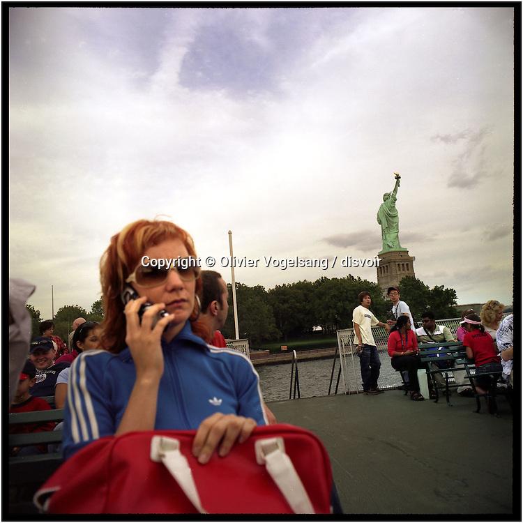 New York, 11.09.04. Miss Liberty.<br /> La statue de la liberté.