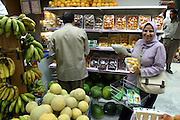 Fruit choices in the produce department of a small Cairo supermarket, Cairo, Egypt. (Supporting image from the project Hungry Planet: What the World Eats)