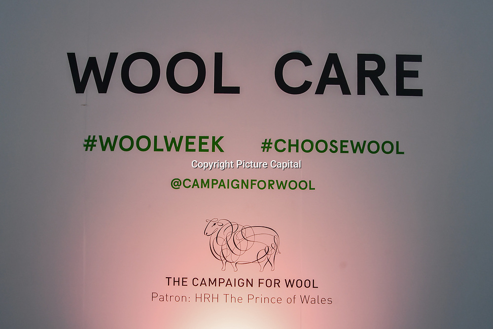Jeremy Hackett launches Wool Week 2018 by unveiling Wool Care Installation in the heart of Covent Garden Piazza, London, UK. 11 October 2018.