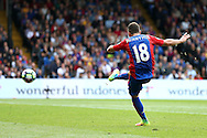 GOAL - James McArthur of Crystal Palace shoots and scores from outside the box for his sides 3rd goal to make it 3-0. Premier League match, Crystal Palace v Stoke city at Selhurst Park in London on Sunday 18th Sept 2016. pic by John Patrick Fletcher, Andrew Orchard sports photography.