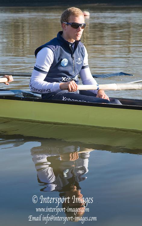Putney, London,  Oxford Blue Boat  No. 7 Simon GAWLIK.  Varsity, University Boat Race, Tideway Week, Thursday  01/04/2010 [Mandatory Credit Peter Spurrier/ Intersport Images]