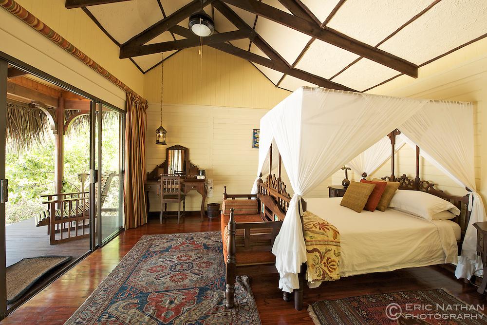 A room in Matemo lodge in the Quirimbas archipelago in Mozambique.
