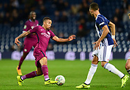 Danilo of Manchester City (l) in action .Carabao Cup 3rd round match, West Bromwich Albion v Manchester City at the Hawthorns stadium in West Bromwich, Midlands on Wednesday 20th September 2017. pic by Bradley Collyer, Andrew Orchard sports photography.