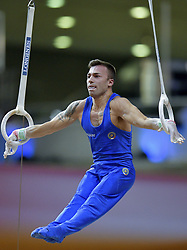 DOHA, Nov. 3, 2018  Marco Lodadio of Italy competes during the men's rings final at the 2018 FIG Artistic Gymnastics World Championships in Doha, capital of Qatar, Nov. 2, 2018. Lodadio won the bronze with 14.900 points. (Credit Image: © Yangyuanyong/Xinhua via ZUMA Wire)