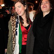 NLD/Amsterdam/20130315 - Boekenbal 2013 Stadsschouwburg , Hanna Bervoets en vriendin ?..