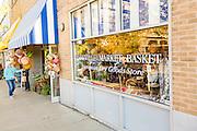 Asheville Market Basket shop on Battery Park in Asheville, North Carolina.
