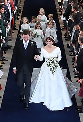 The wedding of Princess Eugenie to Jack Brooksbank at Windsor Castle. 12 Oct 2018 Pictured: The wedding of Princess Eugenie to Jack Brooksbank at Windsor Castle. Photo credit: WPA POOL/Mega TheMegaAgency.com +1 888 505 6342
