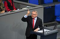 DEU, Deutschland, Germany, Berlin, 27.11.2019: Johannes Kahrs (SPD) bei einer Rede während einer Plenarsitzung im Deutschen Bundestag.