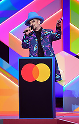 Boy George during the Brit Awards 2021 at the O2 Arena, London. Picture date: Tuesday May 11, 2021.