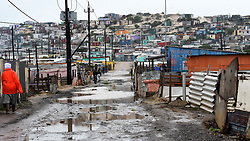 SOUTH AFRICA  - Cape Town - 28 May 2020 - A heavy rain fall has caused the streets of Injanini informal settlement to flood,for the past 3 days the Western Cape has been having a bad weather .photograph;Phando Jikelo/African News Agency(ANA)