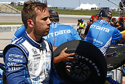 July 7, 2018 - Newton, Iowa, United States of America - ED JONES (10) of the United Arab Emirates hangs out on pit road after practice for the Iowa Corn 300 at Iowa Speedway in Newton, Iowa. (Credit Image: © Justin R. Noe Asp Inc/ASP via ZUMA Wire)