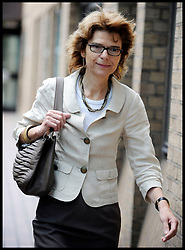 Former Cabinet Minister Chris Huhne ex-wife Vicky Pryce leaves Southwark Crown Court after a pre-trial hearing on June 1, 2012 in London, England. Mr Huhne and his former wife Vicky Pryce are charged with perverting the course of justice over a 2003 speeding offense. Today Vicky Pryce denied perverting the course of justice by taking a speeding penalty for her former husband. Friday June 1, 2012.  Photo By Andrew Parsons/i-Images