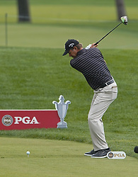 May 24, 2019 - Benton Harbor, NY, U.S. - ROCHESTER, NY - MAY 24: Retief Goosen hits his tee shot on the 18th hole during the second round of the KitchenAid Senior PGA Championship at Oak Hill Country Club on May 24, 2019 in Rochester, New York. (Photo by Jerome Davis/Icon Sportswire) (Credit Image: © Jerome Davis/Icon SMI via ZUMA Press)