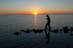 Stepping stones on the sound side at Ocracoke, North Carolina. © Laura Mueller 2007