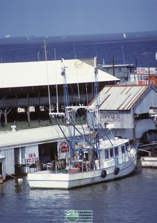 Shrimp Boats in harbor along the Texas Gulf Coast