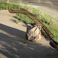 Dragons tail sculpture, steel, handmade