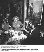 Sharon Stone at Swifty's last Oscar Night  Party. Spago's. Los Angeles. March 1993. Film. 93258/7<br />