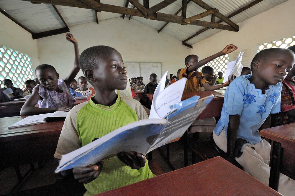 Primary school class in Zombwe, Malawi.
