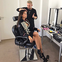 """Verona Pooth releases a photo on Instagram with the following caption: """"#BTS in Vorbereitung f\u00fcr eine TV Show \u2728\ud83c\udf9e\ud83c\udfa5 Stay tuned \ud83d\ude09\ud83d\udc8b MUA: @makeupbyminasyan  Styling: @lailahamidi  in @lamartinapolo  #ComeBackOderWeg"""". Photo Credit: Instagram *** No USA Distribution *** For Editorial Use Only *** Not to be Published in Books or Photo Books ***  Please note: Fees charged by the agency are for the agency's services only, and do not, nor are they intended to, convey to the user any ownership of Copyright or License in the material. The agency does not claim any ownership including but not limited to Copyright or License in the attached material. By publishing this material you expressly agree to indemnify and to hold the agency and its directors, shareholders and employees harmless from any loss, claims, damages, demands, expenses (including legal fees), or any causes of action or allegation against the agency arising out of or connected in any way with publication of the material."""