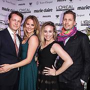 NLD/Amsterdam/20150119 - De Marie Claire Prix de la Mode awards, Lieke van Lexmond en partner Bas van Veggel, Jetteke Lexmond en partner
