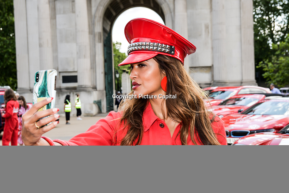 Saselines attend Cash & Rocket Photocall at Wellington Arch, on 6 June 2019, London, UK