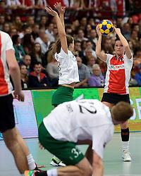 05-04-2014 NED: Korfbal League Finale PKC/Hagero - TOP/Justlease.nl, Rotterdam<br /> In de Rotterdamse Ahoy wint TOP met 22-21 van PKC / Rianne Echten
