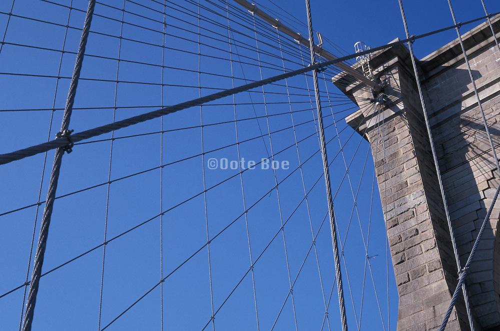 Brooklyn Bridge suspension wires