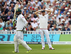 England captain Alastair Cook shows his dejection as Pakistan batsman Azhar Ali adds to his score during day two of the 3rd Investec Test Match at Edgbaston, Birmingham.