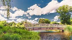 This foorbridge is locted in Opus II Business Park in Minnetonka, Minnesota