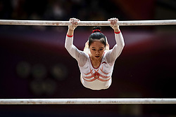 November 2, 2018 - Doha, Qatar - Huan Luo of China   during  Uneven Bars for Women at the Aspire Dome in Doha, Qatar, Artistic FIG Gymnastics World Championships on 2 of November 2018. (Credit Image: © Ulrik Pedersen/NurPhoto via ZUMA Press)