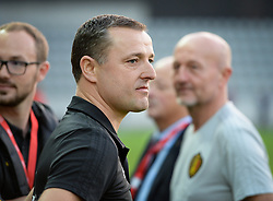 October 9, 2018 - Biel, SWITZERLAND - Belgium's head coach Ives Serneels pictured prior to the a soccer game between Switzerland and Belgium's national team the Red Flames, Tuesday 09 October 2018, in Biel, Switzerland, the return leg of the play-offs qualification games for the women's 2019 World Cup. BELGA PHOTO DAVID CATRY (Credit Image: © David Catry/Belga via ZUMA Press)
