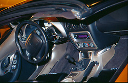 Izuzu V-cross Concept Car interior and drivers compartment seen at the Chicago Auto Show in 2001, McCormack Place, Chicago IL...This image was scanned from a slide, print or transparency.  Image quality may vary.  Dust and other unwanted artifacts may exist.
