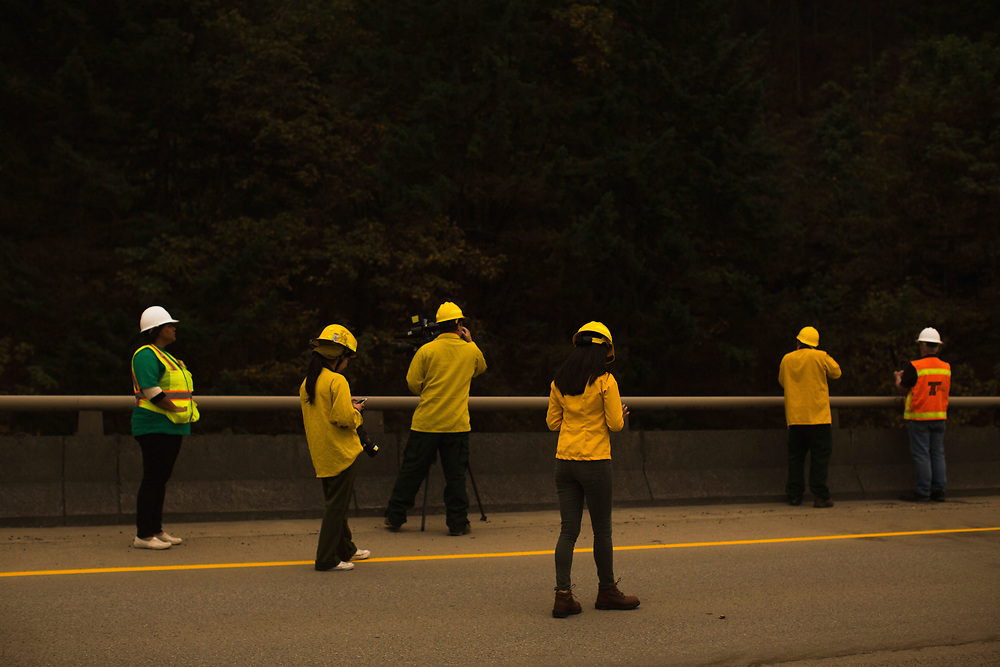 Sept. 14, 2017 | during a media tour of I-84 to show the effects of the Eagle Creek Fire in the Columbia River Gorge in Oregon