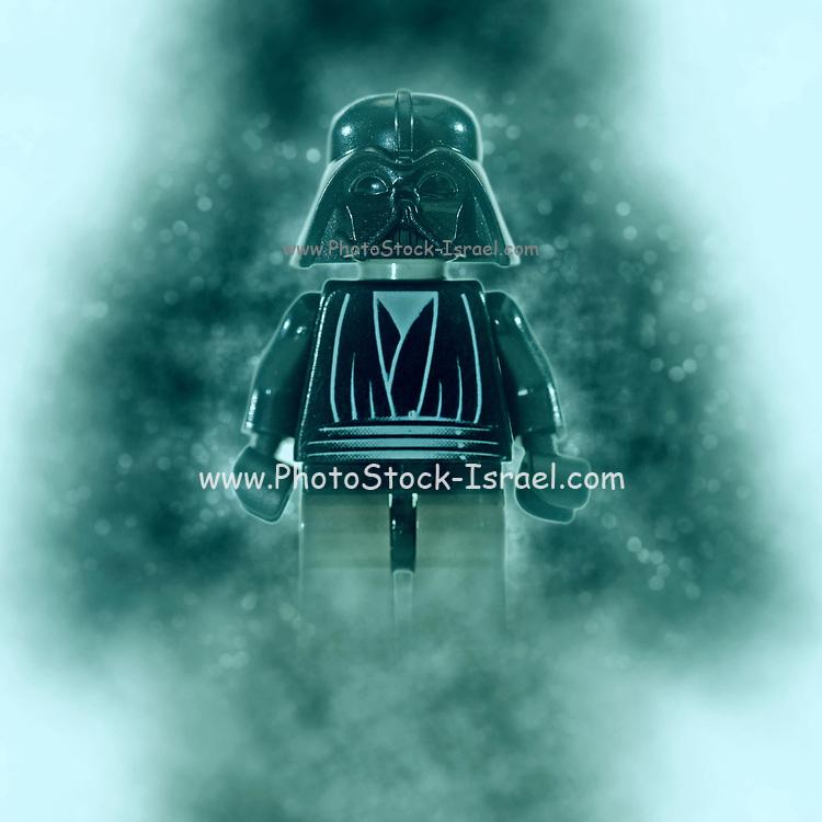 Digitally enhanced image of Darth Vader Star wars action figure
