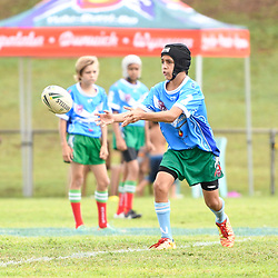 BRISBANE, AUSTRALIA - MARCH 19: Dunwich and Tweeds Heads juniors in action before the Round 3 QRL Intrust Super Cup match between Wynnum Manly and Tweed Heads Seagulls at Ron Stark Oval on March 18, 2017 in Brisbane, Australia. (Photo by Patrick Kearney/Wynnum Manly Seagulls)