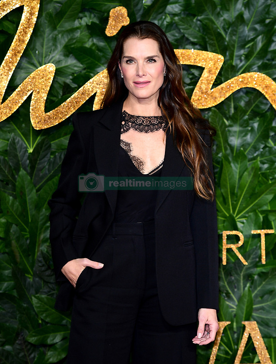 Brooke Shields attending the Fashion Awards in association with Swarovski held at the Royal Albert Hall, Kensington Gore, London.