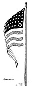 (Satellite Explorer 1 appears on the American flag as a new star)