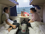 Husband and life travelling between Chenzhou and Longxi, to visit relatives. Life in the sleeping compartments in the train from Hong Kong to Urumqi (Xinjiang).