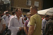 GARY HUME, JOE HUME AND DINOS CHAPMAN, The Art Car Boot Fair, Truman Brewery, Brick Lane. London. 4 June 2006. ONE TIME USE ONLY - DO NOT ARCHIVE  © Copyright Photograph by Dafydd Jones 66 Stockwell Park Rd. London SW9 0DA Tel 020 7733 0108 www.dafjones.com