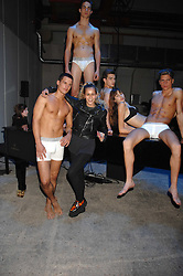 ALICE DELLAL and models at an exclusive installation by Martin Creed and presentation of the Calvin Klein Spring 2008 collection held at P3 35 Marylebone Road, London on 15th October 2007.<br /><br />NON EXCLUSIVE - WORLD RIGHTS