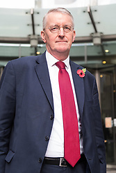 London, October 29 2017. Chair of the Exiting the European Union Select Committee, Labour's Hilary Benn MP at the BBC in London ahead of appearing on the Sunday Politics programme. © Paul Davey