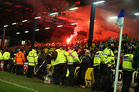 Photo: Rich Eaton.<br /> <br /> Cardiff City v Tottenham Hotspur. The FA Cup. 07/01/2007.  a flare in the second half amongst the Tottenham fans